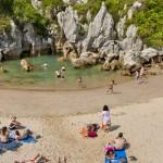 Playa de Gulpiyuri Llanes España