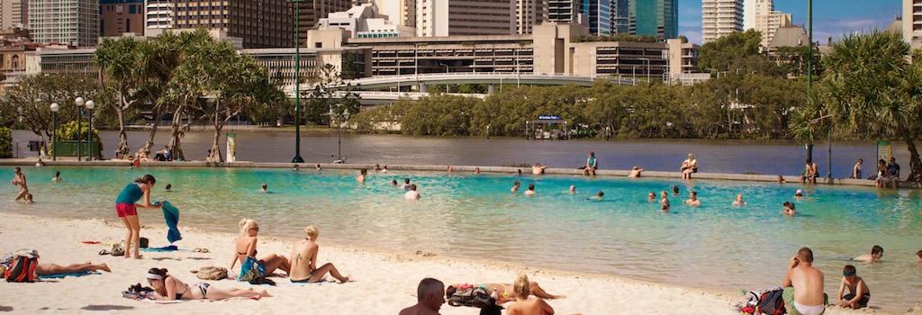 Street Beach Brisbane Australia