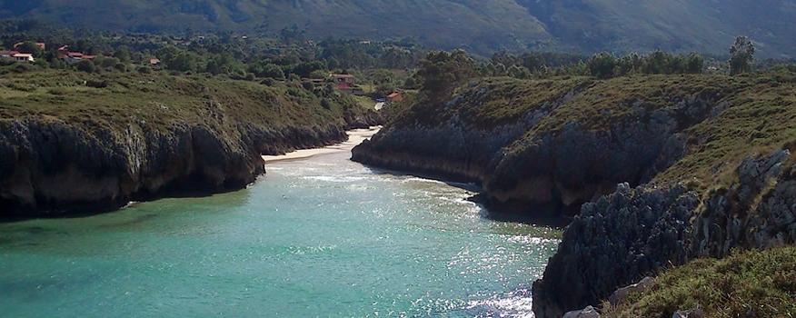 Playa de Guadmía en Llanes Asturias
